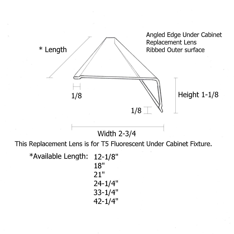 Fluorescent Light Covers 48 X 16: Replacement Lens For Fluorescent Light: Amazon.com