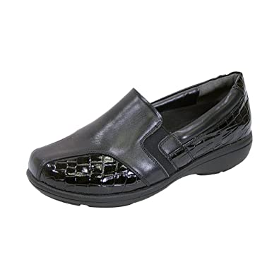 17cb6596afb2 24 Hour Comfort FIC Peerage Agatha Women Extra Wide Width Dress Loafer  Black 5
