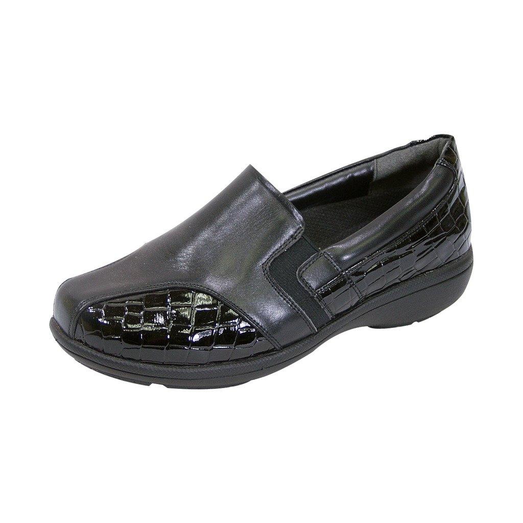 24 Hour Comfort  FIC Peerage Agatha Women Extra Wide Width Dress Loafer Black 8.5