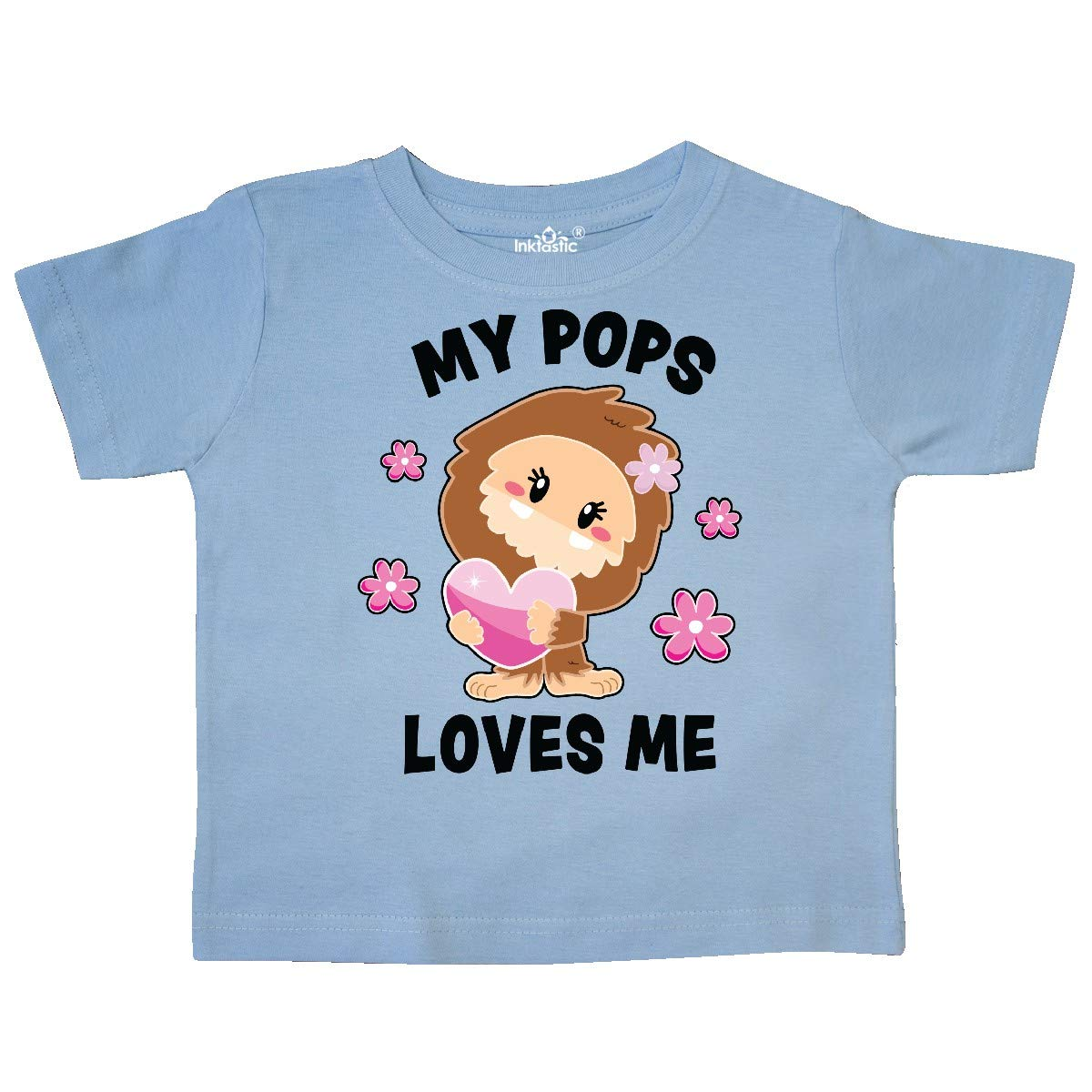 inktastic My Pops Loves Me with Bigfoot Toddler T-Shirt
