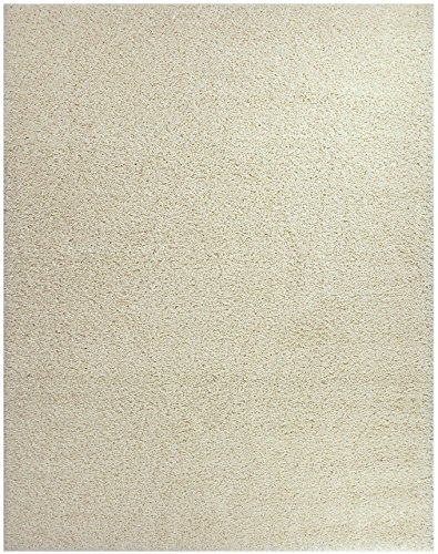 (Shaggy Collection Solid Color Shag Area Rugs (Ivory (Off White), 3'3