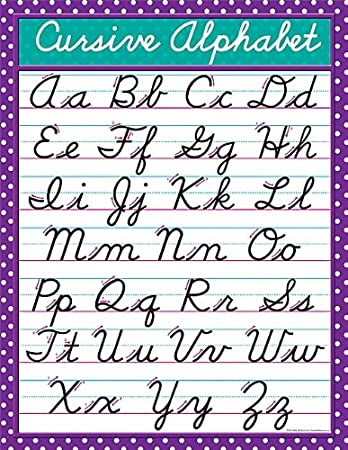 Teacher Created Resources Cursive Chart, Multi Color (7688)