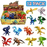 12Pcs ! 12Pcs Assorted 4 Inch Dragons (The Legend of Dragons)!  Make sure to pass out the party favor at your next Dragon style theme party. Take them home and make a super surprise for your little guy!