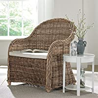 Brylanehome Whitman Oversized Wicker Chair (Natural,0)