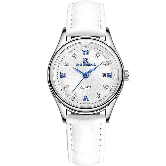 Reloj para mujer, reloj de cuarzo ultradelgado impermeable para mujer de negocios reloj de pulsera reloj para mujer reloj para mujer modelo masculino (Color ...