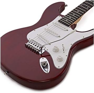 Guitarra Electrica LA Roja + Set de Ampli: Amazon.es: Instrumentos ...