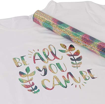 Iron On T-Shirt Glitter Heat Transfer NEW Fabulous Sweet Me