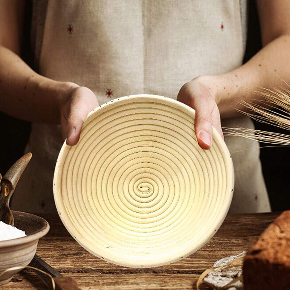 in rattan naturale ciotola professionale 13cm x 6cm Cestino per il pane HJKGSVdv rotondo