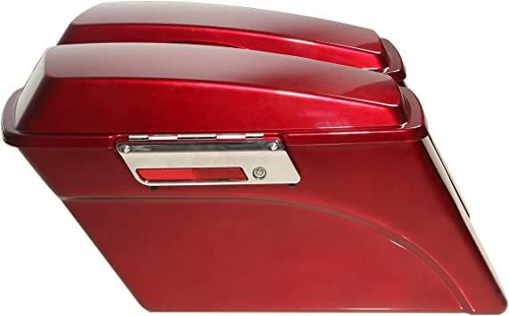 road king electra glide XMT-MOTO Hard Saddle Bag Saddlebags fits for 1993-2013 Harley Davidson all Touring Models including road glide ultra 1 Pair,Unpainted Black street glide