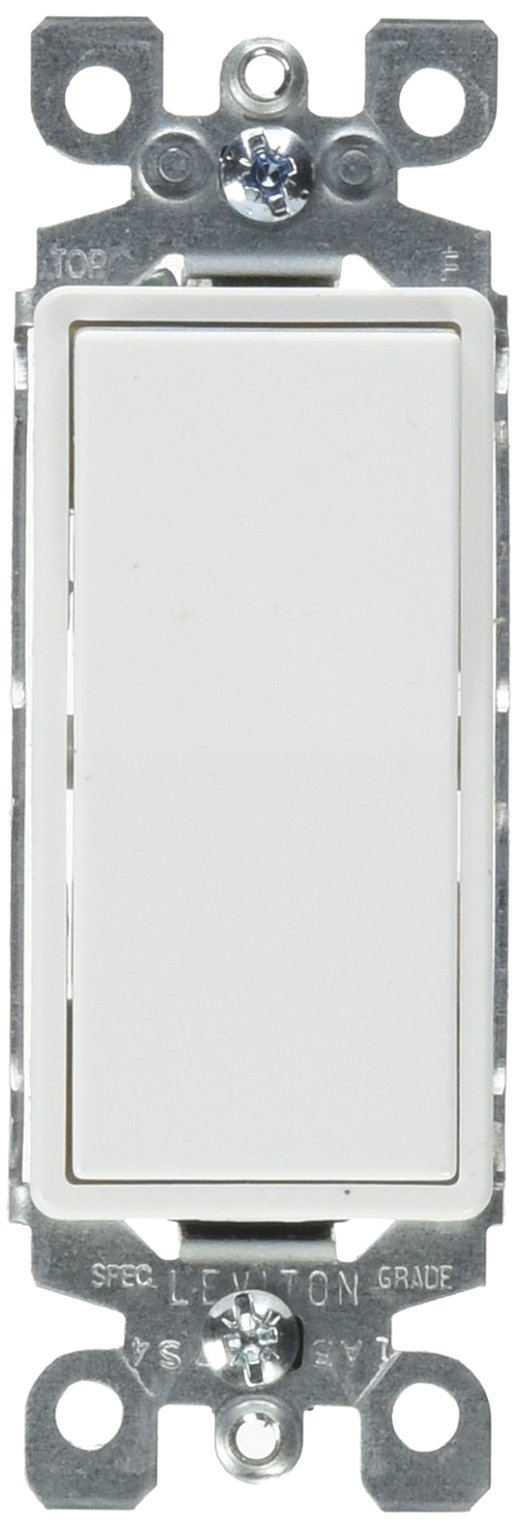 Leviton S12-5611-2WS White Residential Grade Decora AC Quiet Switch Rocker