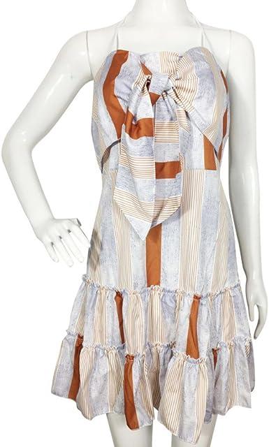 Vestidos De Verano Vestido De Fiesta Mujer Vestidos De Playa Mujer Vestir Ropa Mujer Sexy Falda Ropa De Mujer Verano Camisa De Vestir Vestido De Noche (M, Beige): Amazon.es: Ropa y accesorios