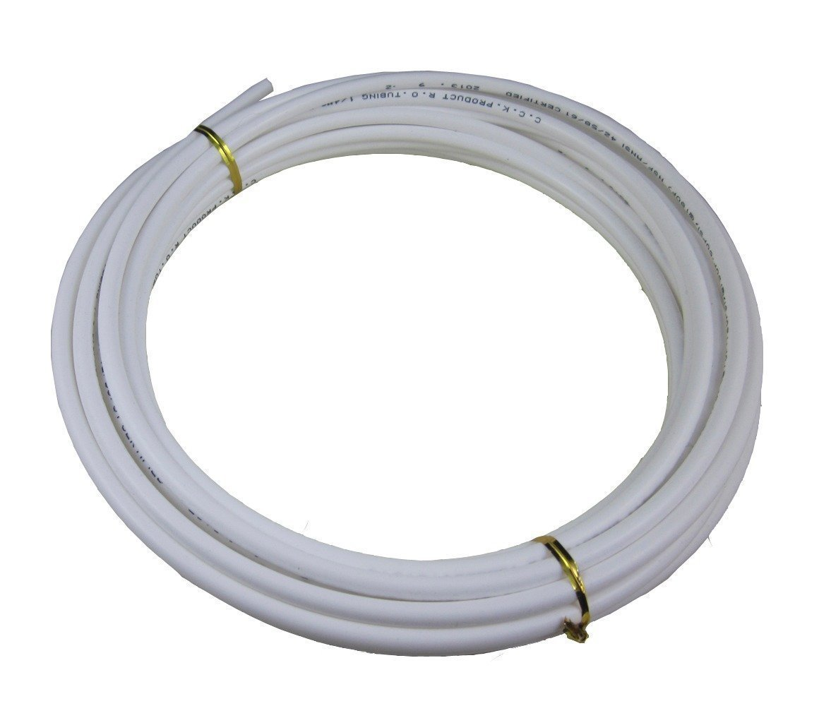 Lemoy 1/4 Inch, 10 Meters 30 feet Length Tubing Hose Pipe for Reverse Osmosis RO Water Purifiers Filter System (white)
