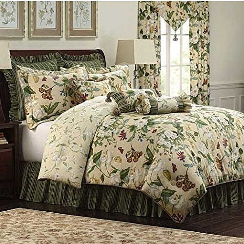 Williamsburg Garden Images 4-Piece Queen Comforter ()