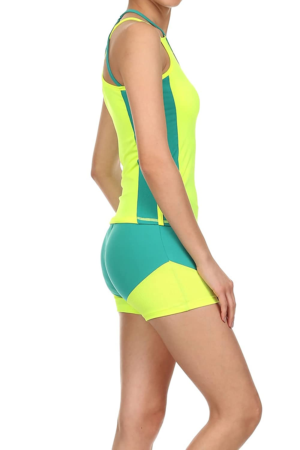BB Jeans Womens 2 Piece Athletic Exercise and Fitness Set