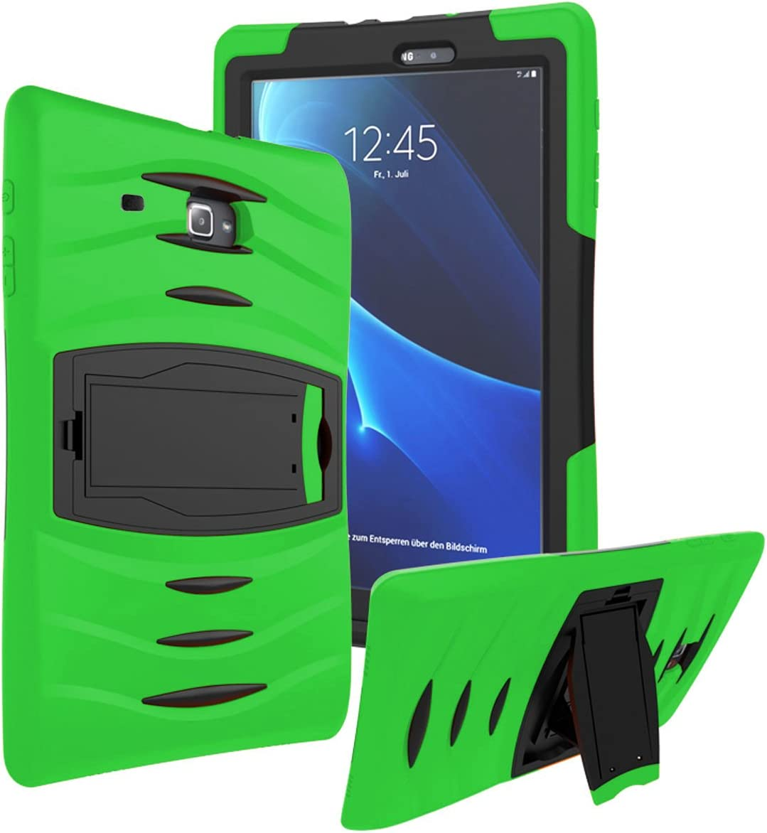 "Galaxy Tab E 7.0 Lite Case SM-T113, KIQ Shockproof Heavy Duty Case, Kickstand, Screen Protector Cover, for Samsung Galaxy Tab E 7.0"" / Tab 3 Lite 7-inch T110/T113/T116/T111 (Armor Green)"