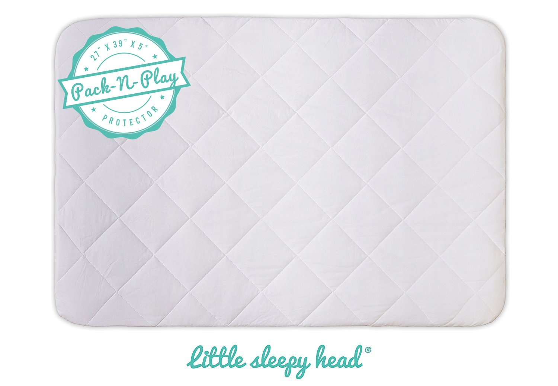 Soft, Waterproof Portable Crib Mattress Protector for Pack n Play & Play Yards Little Sleepy Head