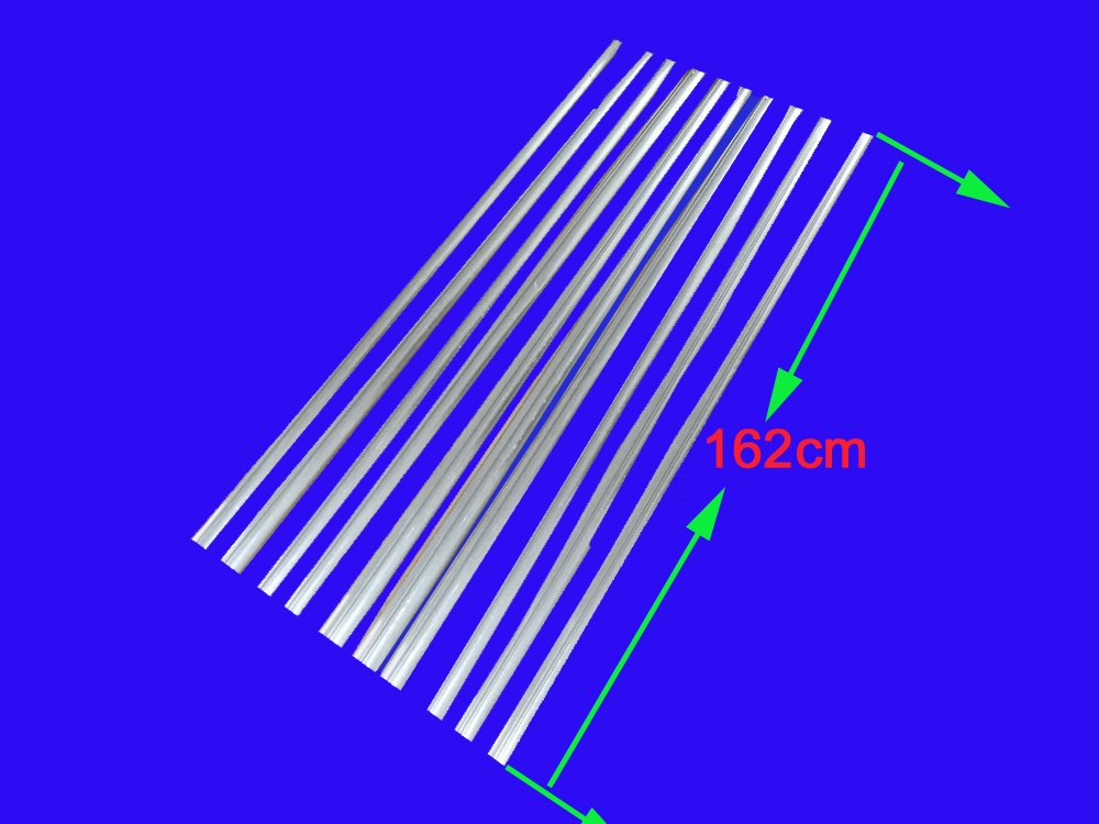 MISOL 10 pcs of aluminum fins for glass tubes (58mm1800mm), for solar water heater