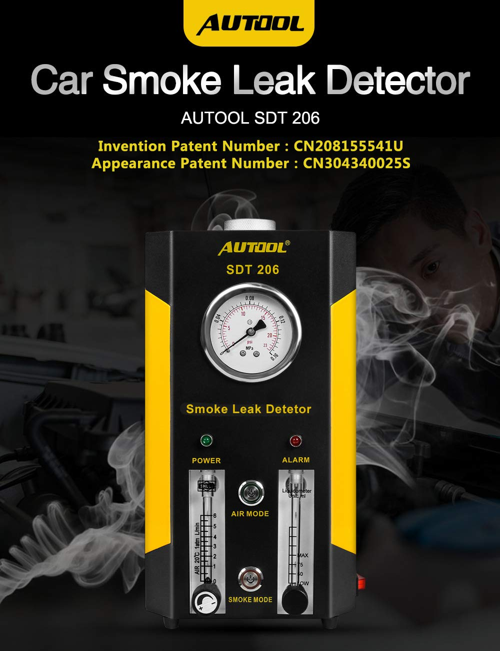 AUTOOL Automotive Pipes Fuel Leakage Detector Diagnositc Tester EVAP Leaks Testing Machine for 12V Vehicle/Motorcycles/Boat (Newest Dual Modes) by AUTOOL (Image #7)