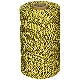Kraft Tool W. Rose RO685 Super Tough Professional Bonded Braided Nylon Masons Line, 685-Feet, Yellowith Black