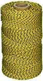 W. Rose RO685 Super Tough Professional Bonded Braided Nylon Masons Line, 685-Feet, Yellow/Black