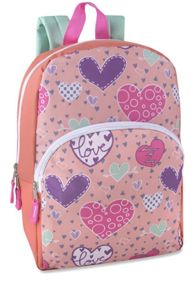 Toddler Kids PreSchool 15-inch Printed School Backpack, Hearts Bursting with Love by Bags in Bulk (Image #1)