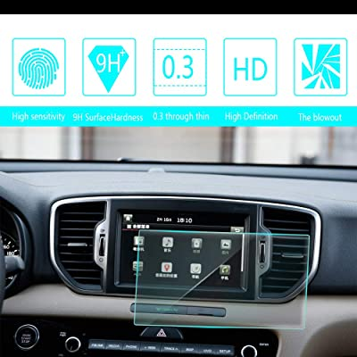8X-SPEED for Kia KX5 K900 K9 NIRO Rio Sedona VQ 8-Inch 176x99mm Car Navigation Screen Protector HD Clarity 9H Tempered Glass Anti-Scratch, in-Dash Media Touch Screen GPS Display Protective Film: Automotive