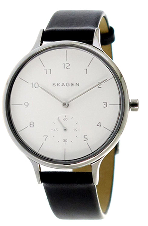 スカーゲン SKAGEN レディース レザー ホワイト ブラック SKW2415 時計 腕時計 [並行輸入品] B0777PBK4M