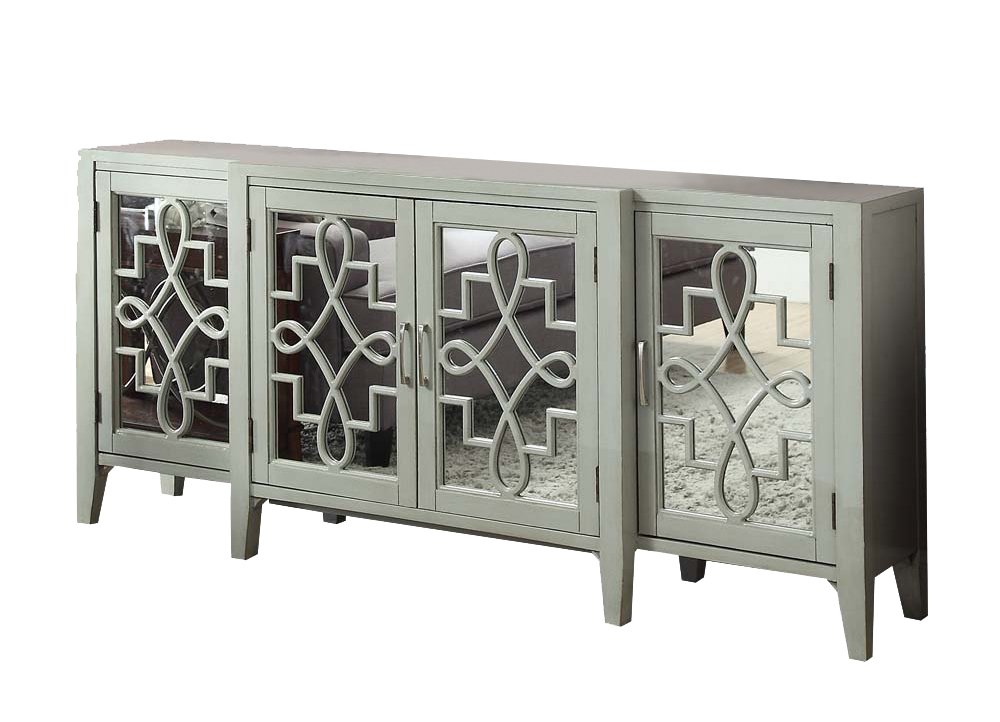 ACME Kacia Antique Gray Console Table by Acme Furniture