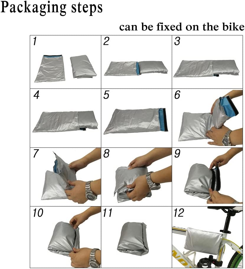 Road Bike with Clasp System and Adjustable Strap Design Drawstring Storage Bag Maveek Cycle Cover 190T Nylon Heavy Duty All Weather Waterproof Bike Cover Dust Resistant UV Protection for Mountain Bike