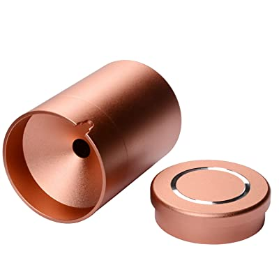 JCBOOK Car Ashtray, Aluminum Alloy Enclosed Cigarette Ashtray for Car or Outdoor Use(Champagne Pink,S): Automotive