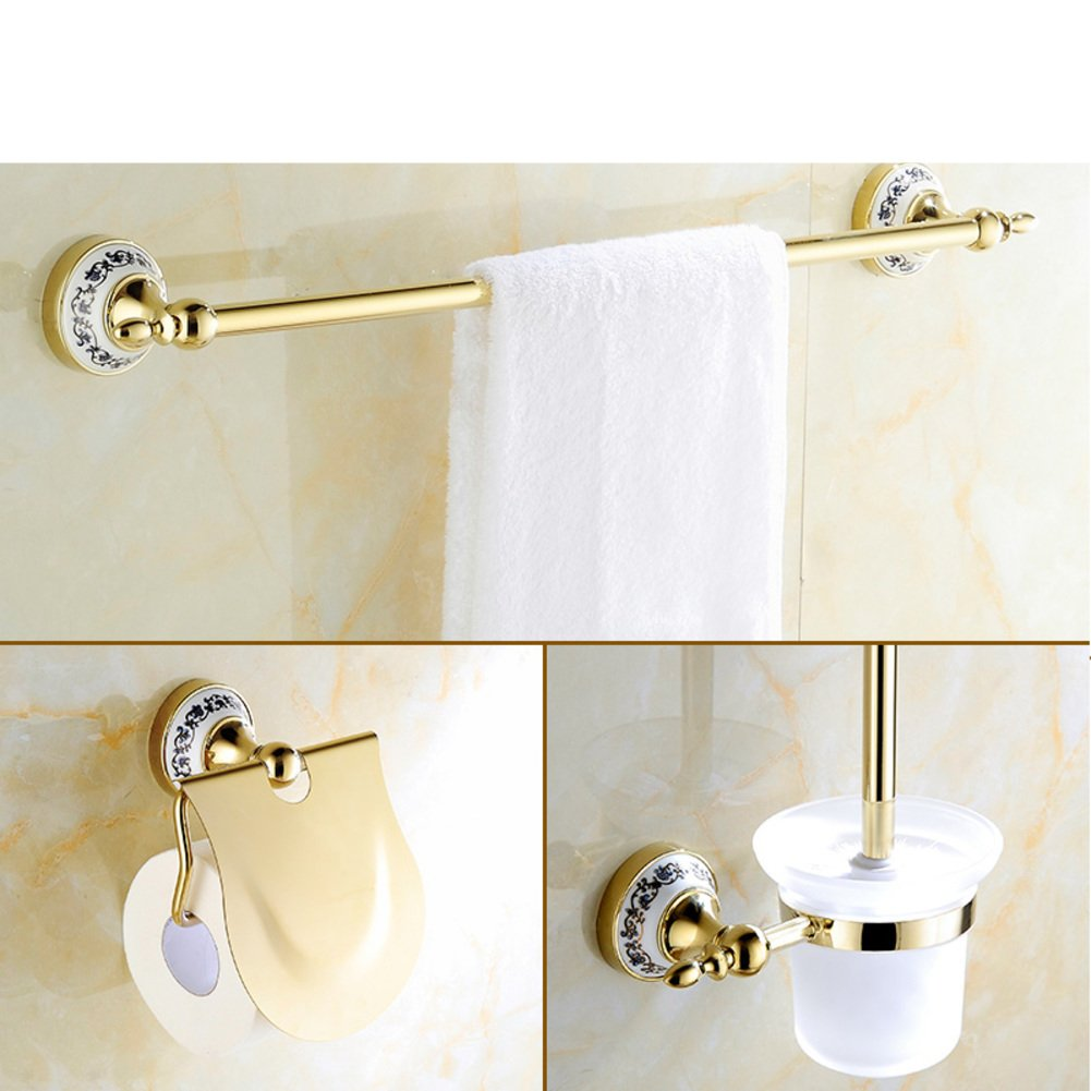 Golden Towel rack/Gold-plated stainless steel European style Towel rack/toilet/Bathroom accessories-I 80%OFF