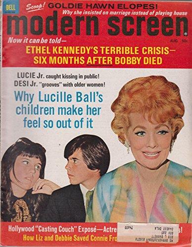 Modern Screen Magazine Lucile Ball cover (August 1969)
