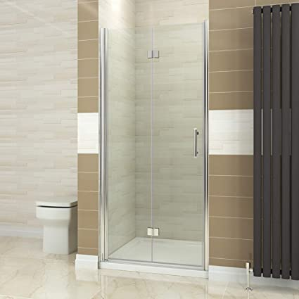 ELEGANT 900mm Bifold Shower Door Glass Enclosure Reversible Folding Cubicle Amazoncouk Kitchen Home