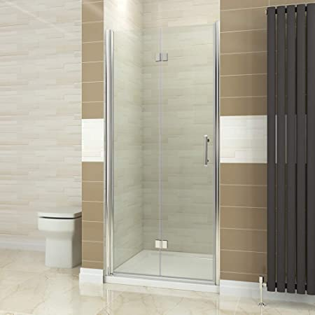 Elegant 800mm Bifold Shower Door Glass Shower Enclosure Reversible