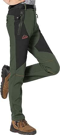 Rdruko Women's Waterproof Windproof Fleece Lined Warm Hiking Ski Snow Insulated Pants