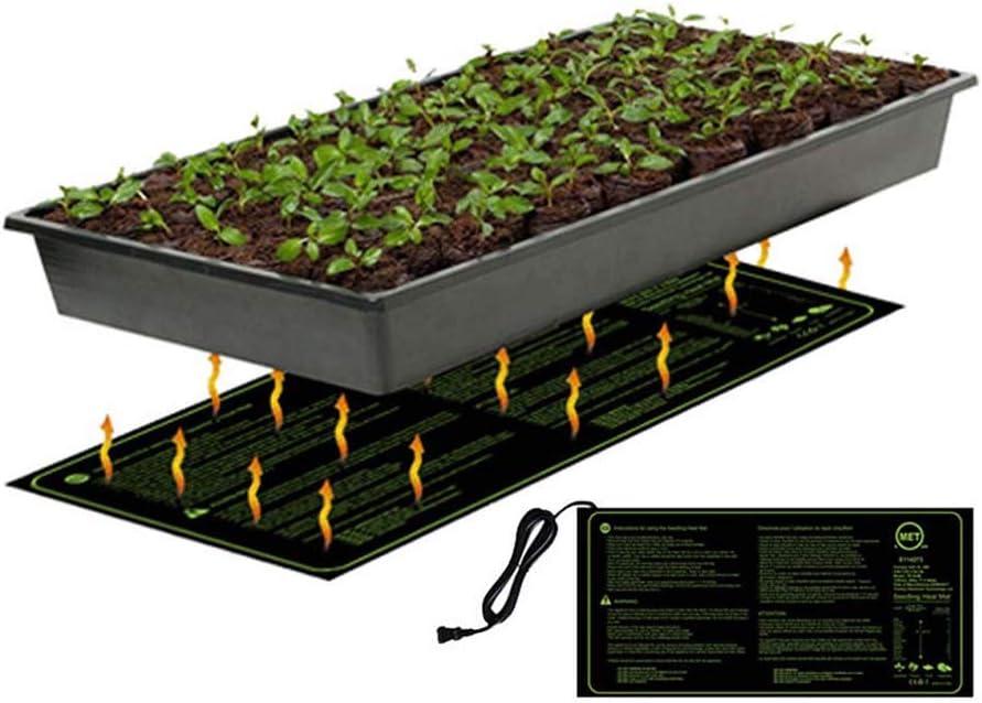 FXQIN Impermeable Alfombra Térmica para Plantas, Placa Calefactora para Invernadero, Germinación, Jardín Hidropónico, para Jardinería De Interior Al Aire Libre, 120×50cm,UKPlug