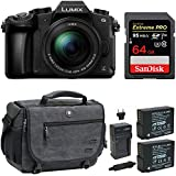 Panasonic LUMIX DMC-G85MK 4K Mirrorless Lens Camera Kit, 12-60mm Lens, 16 Megapixel (Black) Bundle