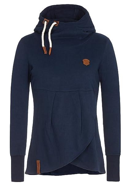 NAKETANO Lass Ma Ficking Machen Hooded Sweatshirt for Women Grey OfS6zloi