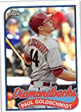Paul Goldschmidt baseball card (Arizona Diamondbacks All Star) 2014 Topps Chrome Refractor #89TC-PG