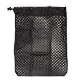 2 pcs Heavy Duty Laundry Nylon Mesh Stuff Sack Bag with Sliding Drawstring Cord Lock Closure