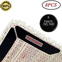 Rug Grippers, Omaky Anti Curling Rug Gripper, Anti Slip Straight Carpet Gripper for Corners and Edges - Anti Slip Rug Pad for Rugs - Ideal Rug Stopper For Kitchen/Bathroom (Black)