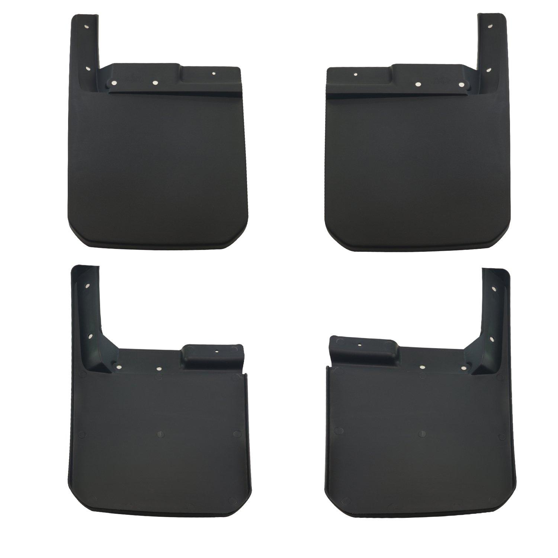 4Pcs AVOMAR New Body Style Mud Flaps Splash Guard Fender Flares Mudguards Kit Fit for 2018 Jeep Wrangler JL JLU