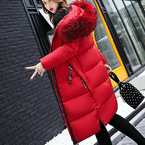 en Hiver Doudoune Manteau paisse Rouge Femme Longue Femmes Dans Duvet Familizo la Chaud Femm Veste gq8wH8