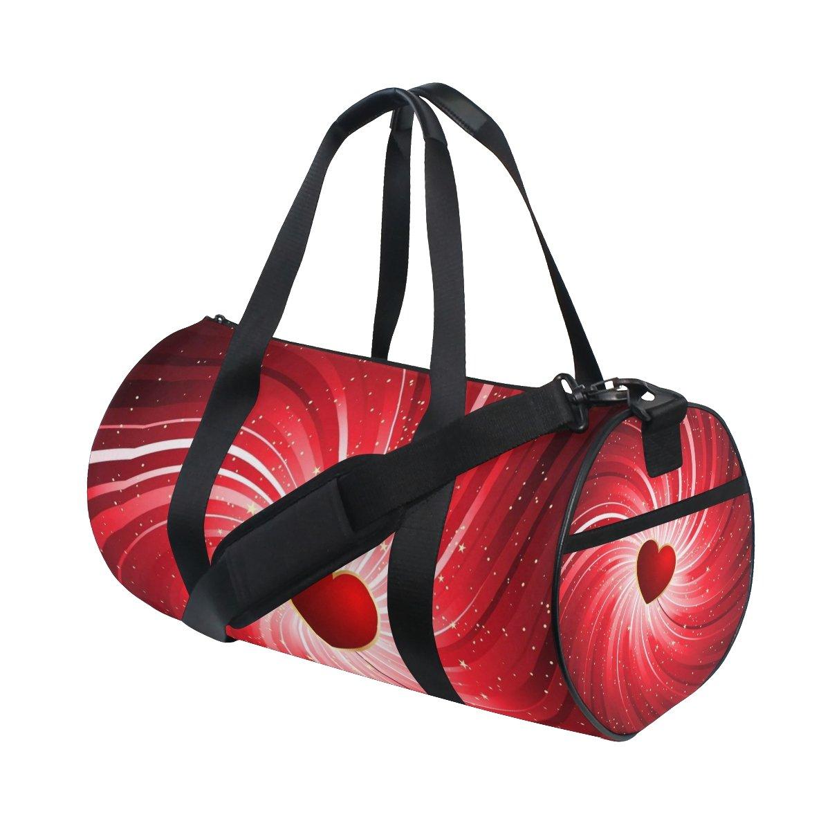 U LIFE Valentines Day Heart Stars Love You Summer Spring Wedding Sports Gym Shoulder Handy Duffel Bags for Women Men Kids Boys Girls