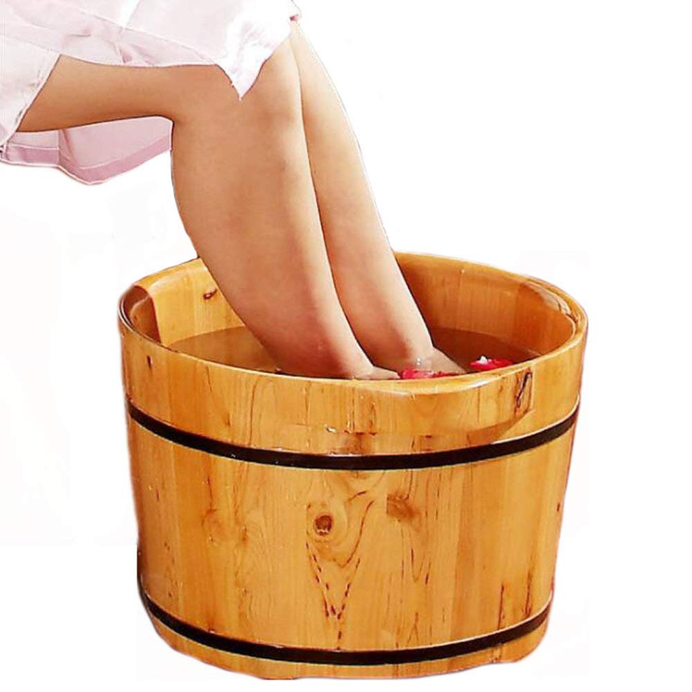 ZXDFG Cedar Wood Foot Bath Barrel Adult Foot Bath Pots Suitable for Families and Hotels