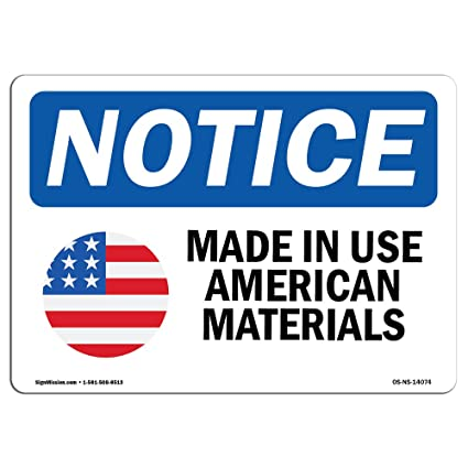 Amazon Osha Notice Signs Made In Usa American Sign With