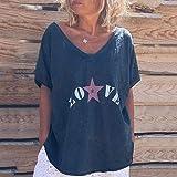 MURTIAL Women T-Shirt Summer Casual V Neck