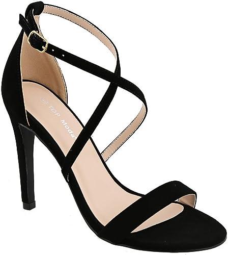 c5e9c7d4d56 Top Moda Formal High Heel Ankle Strap Elliott-5 Sandals (10