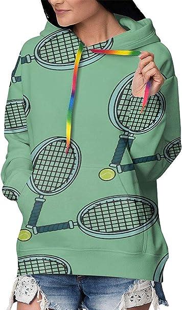 ONGH Raquetas de Tenis Sudaderas con Capucha para Mujer Sudadera ...