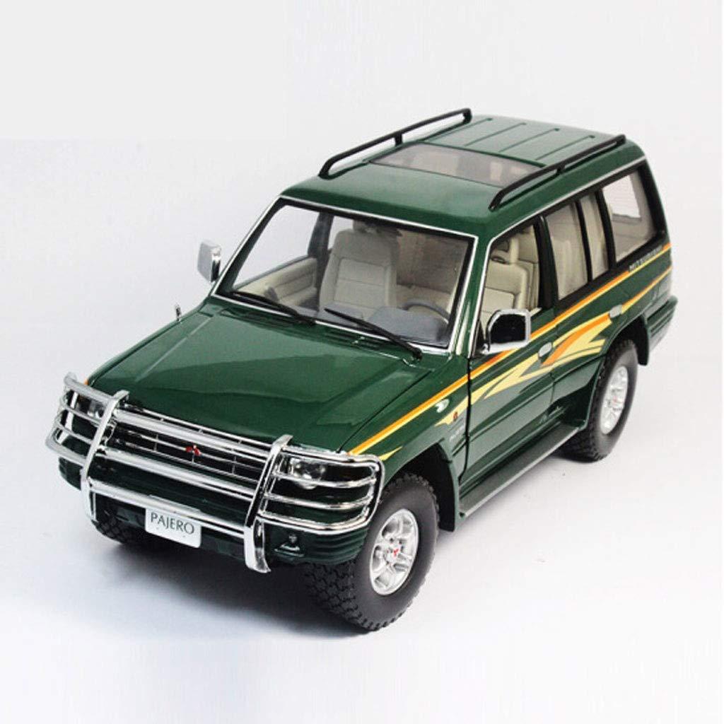 PENGJIE-Model 1 18 Mitsubishi Pajero 98 Jahre 3,5 v6 Lange Achse SUV Auto Modell Sammlung Geschenk (Farbe   Grün) Grün